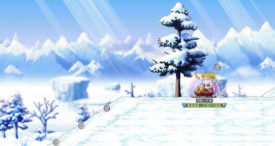 「冬季城堡渡假村」的「銀白山岳翱翔」任務,可搭乘雪上摩托車享受刺激快感!
