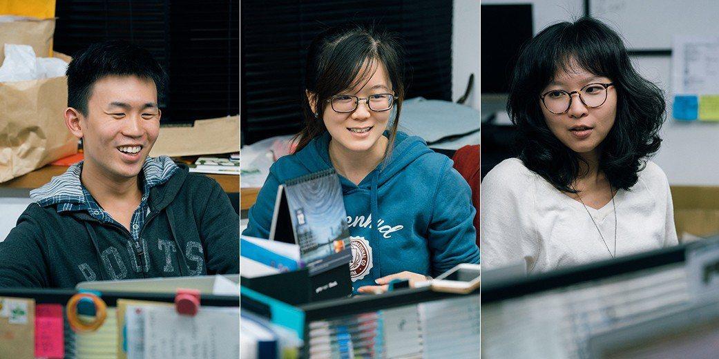左起:張亭筠、瞿澄、林鈺雯 攝影/王志元