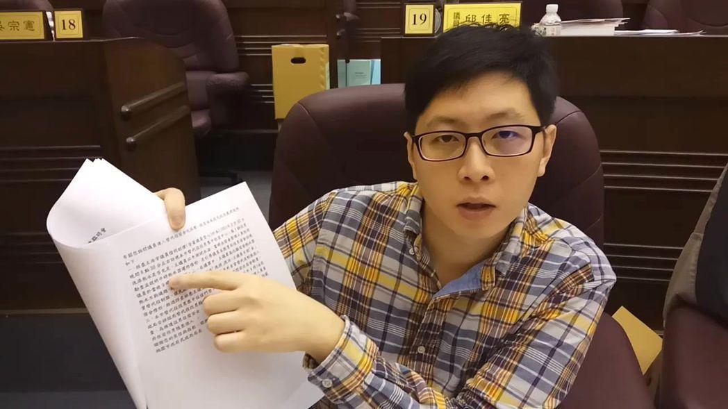 臉書「我是中壢人」創辦人王浩宇,26歲當選桃園市議員。 本報資料照片