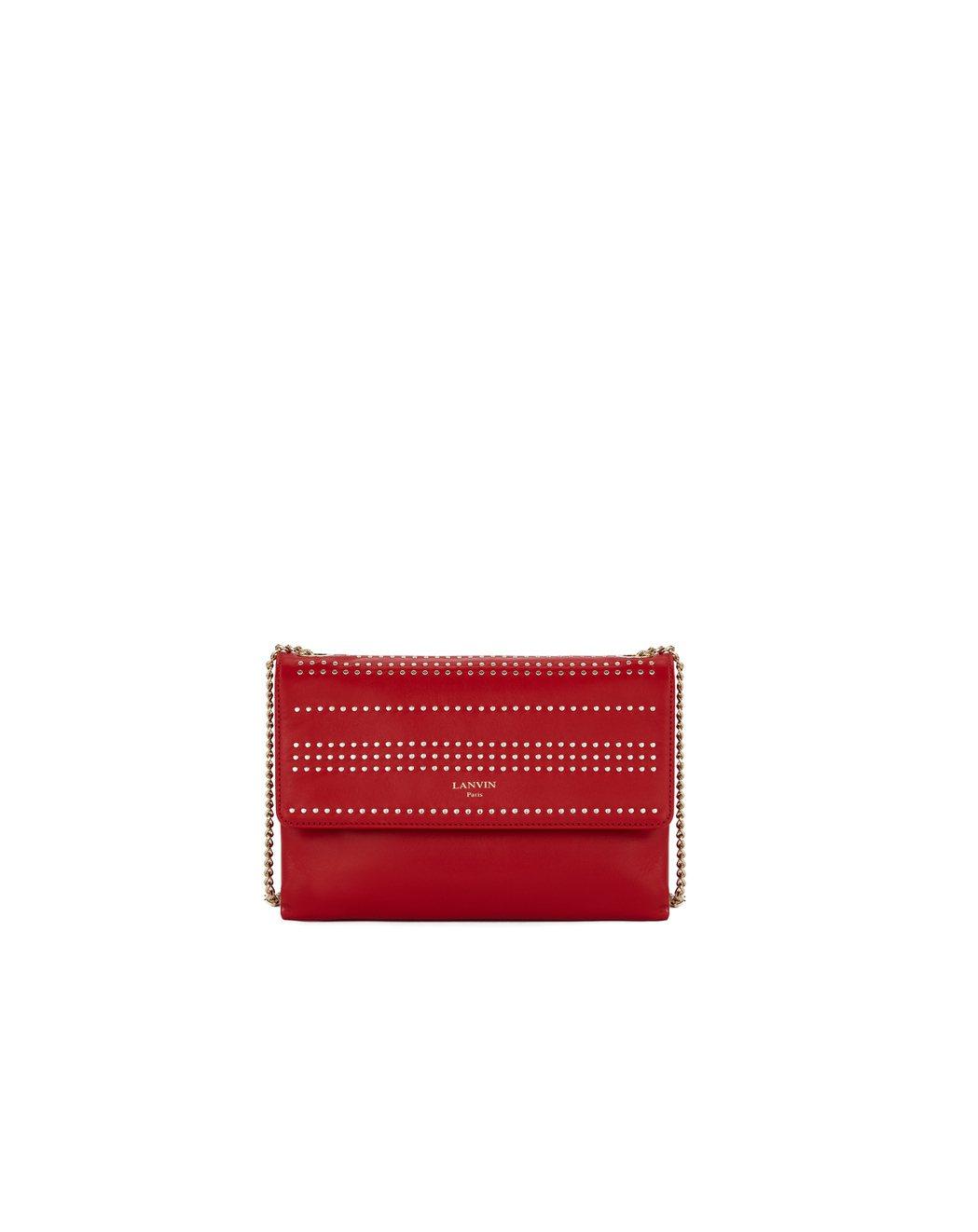 LANVIN Mini Sugar寶石紅,58,100元。圖/LANVIN提供