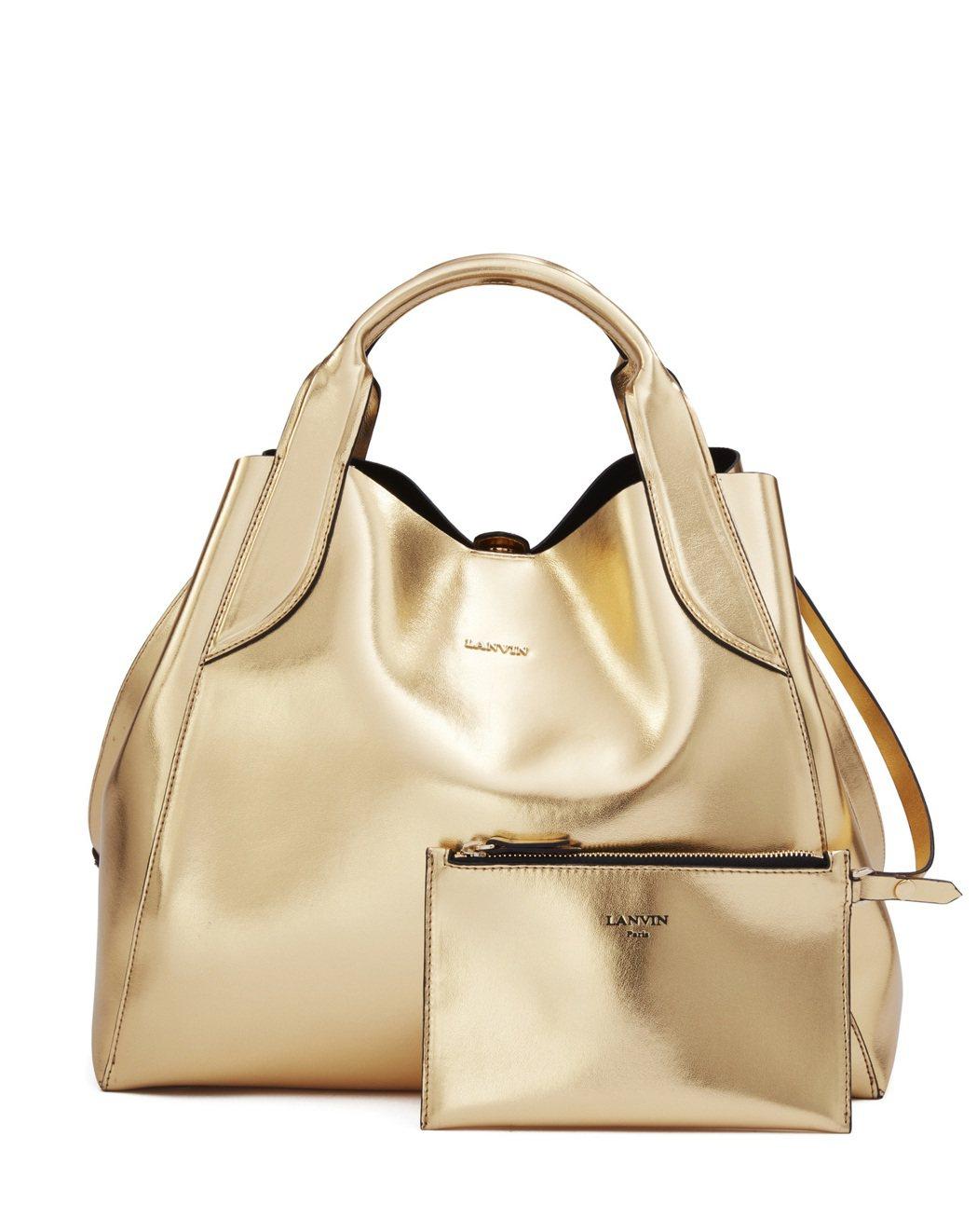 LANVIN Small Cabas Bag耀眼金,65,200元。圖/LANV...