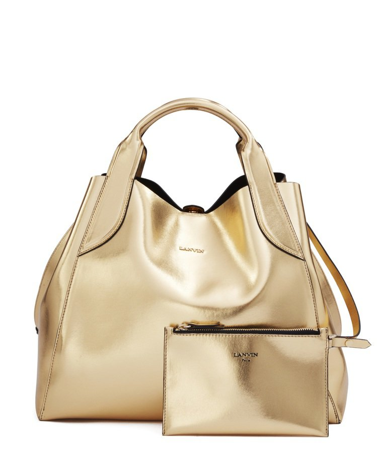 LANVIN Small Cabas Bag耀眼金,65,200元。圖/LANV...