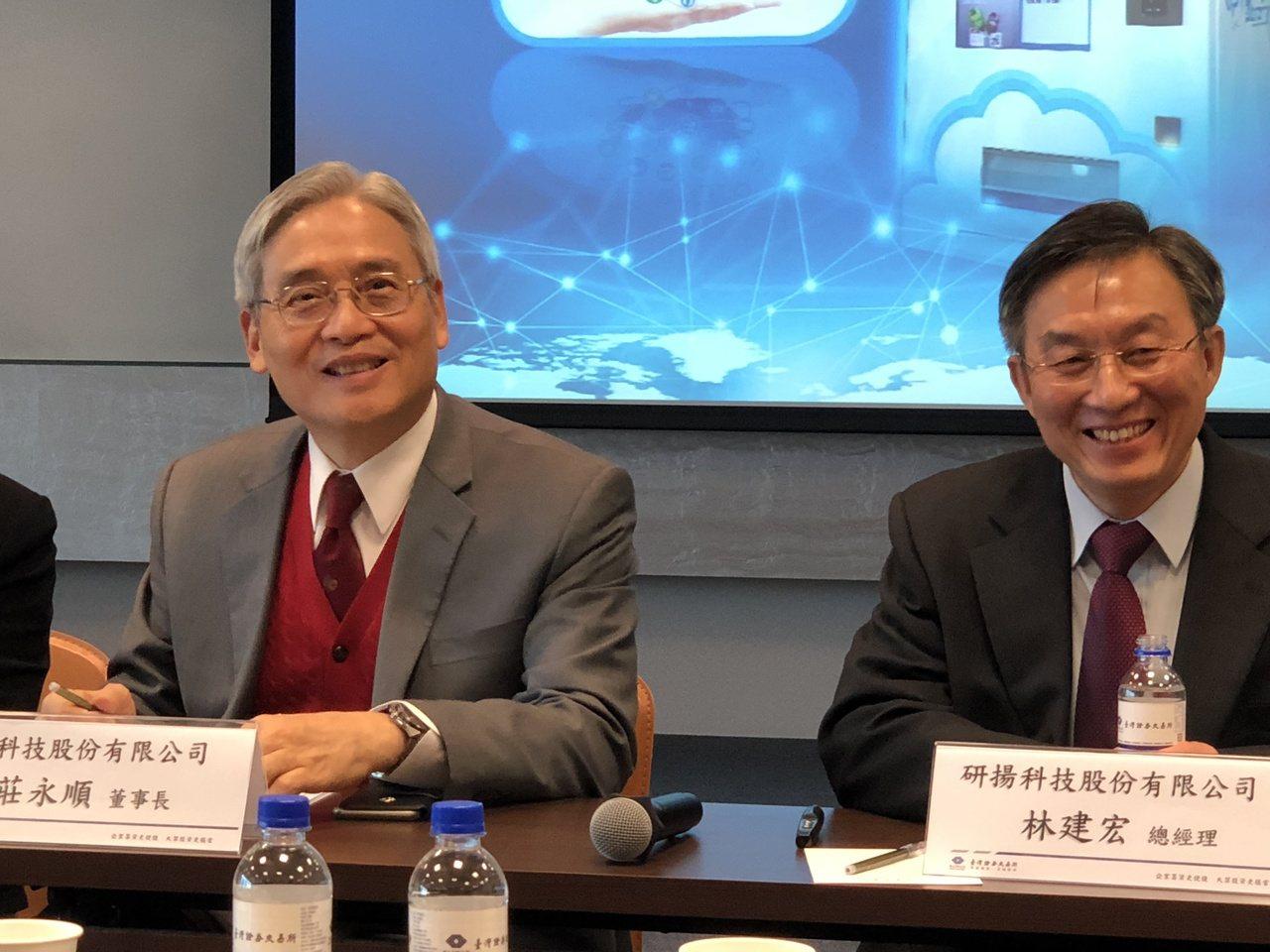 研揚董事長莊永順(左)與總經理林建宏。記者蕭君暉/攝影