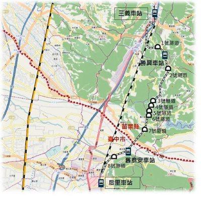台中舊山線指「后里—舊泰安車站」,全長15.9公里。 圖/台中市交通局提供