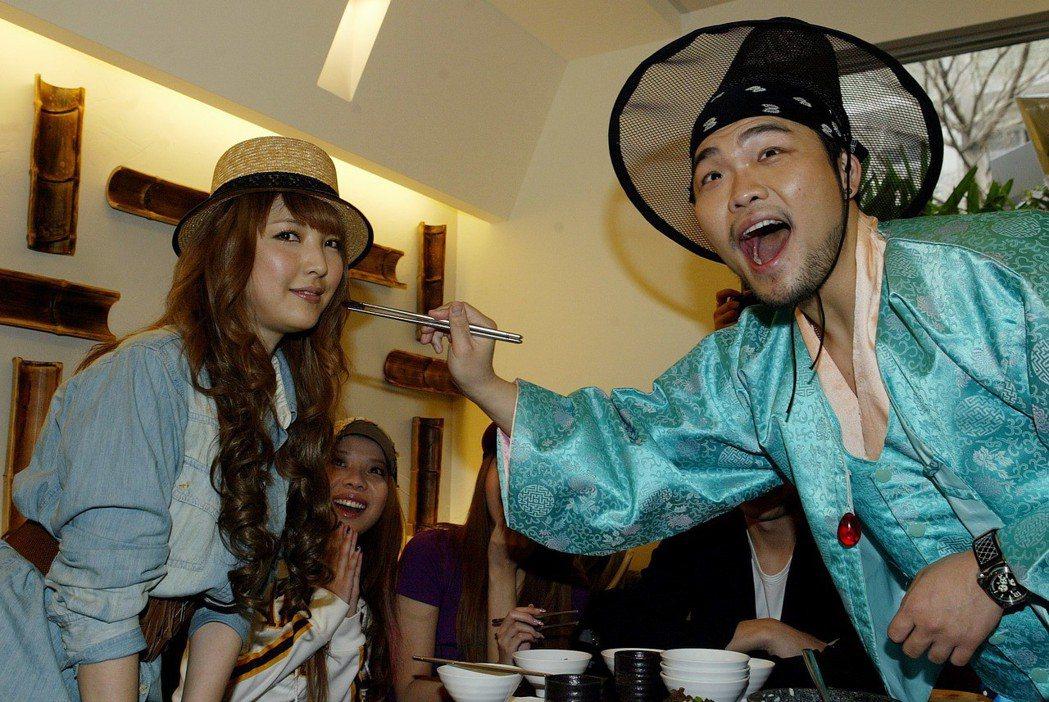 李玖哲(右)認了與相馬茜(左)已婚。圖/聯合報系資料照