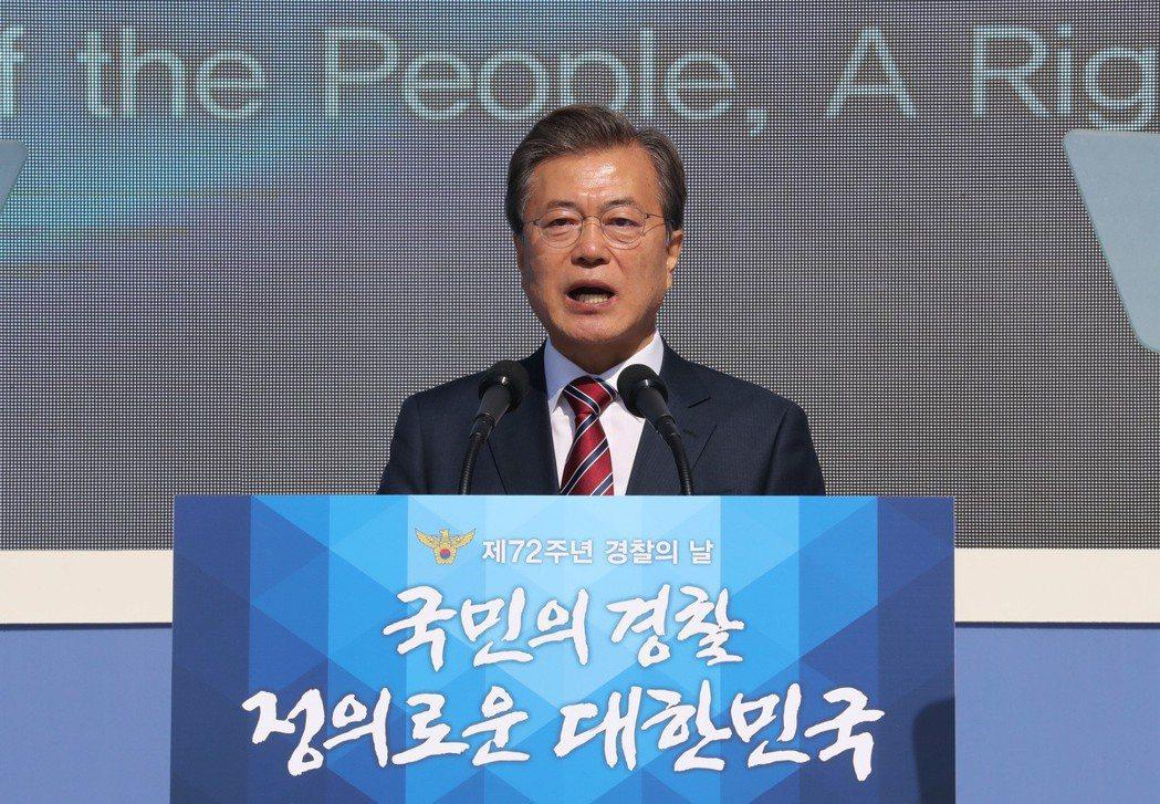 南韓總統文在寅(圖)14日下午將與中國國家主席習近平會晤。歐新社