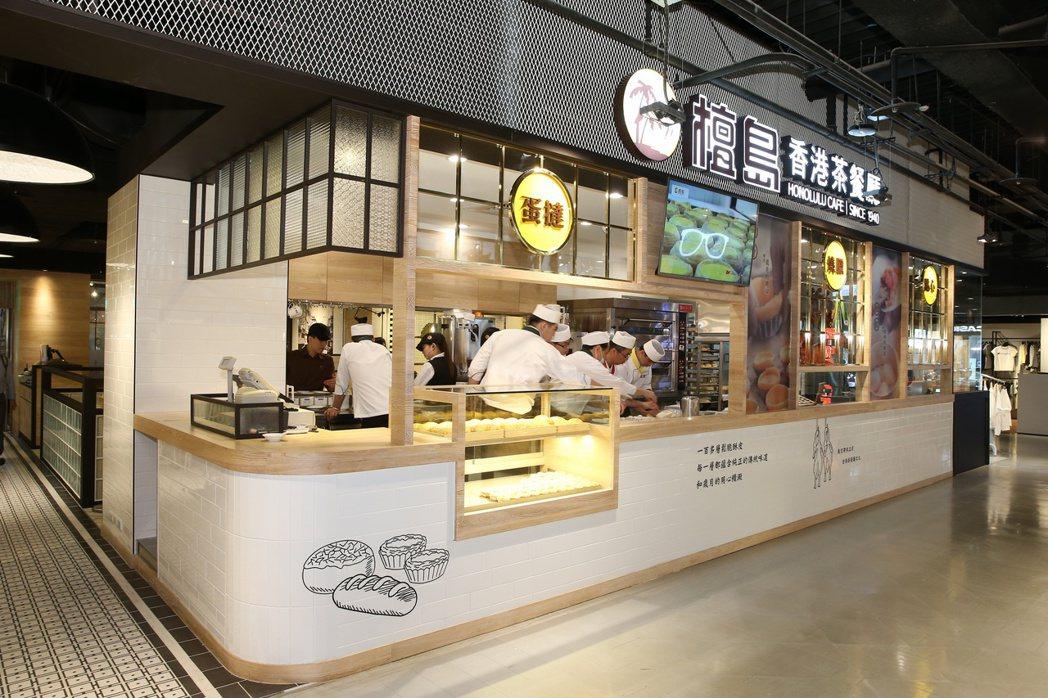 香港茶餐廳檀島咖啡餅店。記者陳立凱/攝影