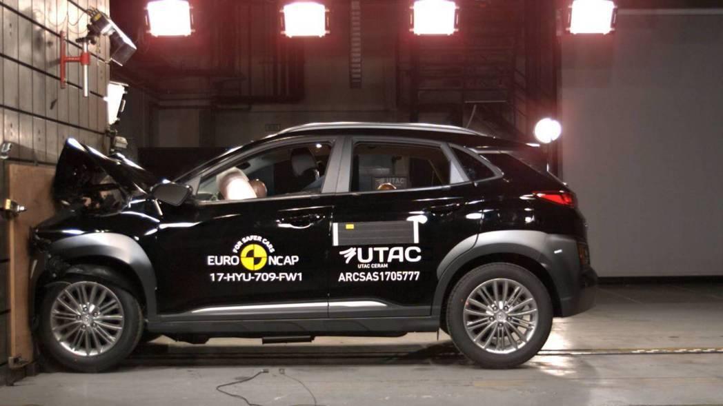 正面全面撞擊測試。 摘自Euro NCAP