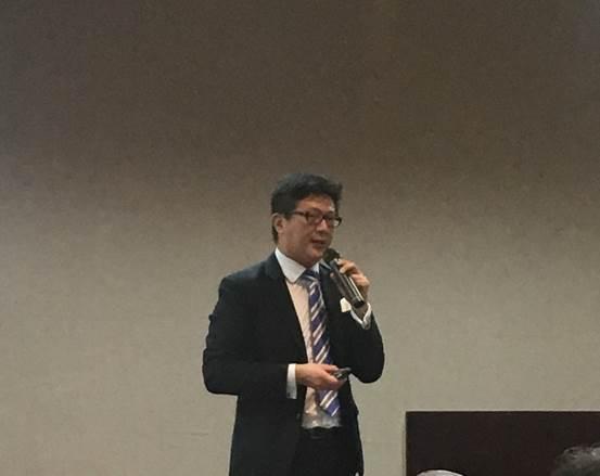 圖3:香港交易所高級副總裁鍾創新 (攝影:蔣士棋)