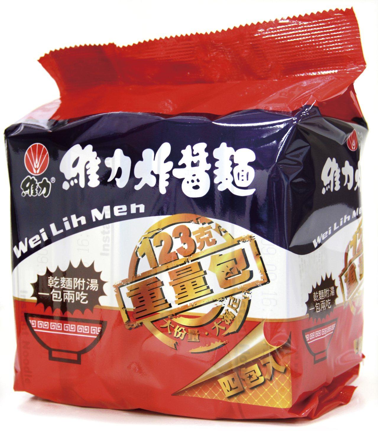 老品牌維力炸醬麵,成為銷量排行榜季軍。圖/大潤發提供