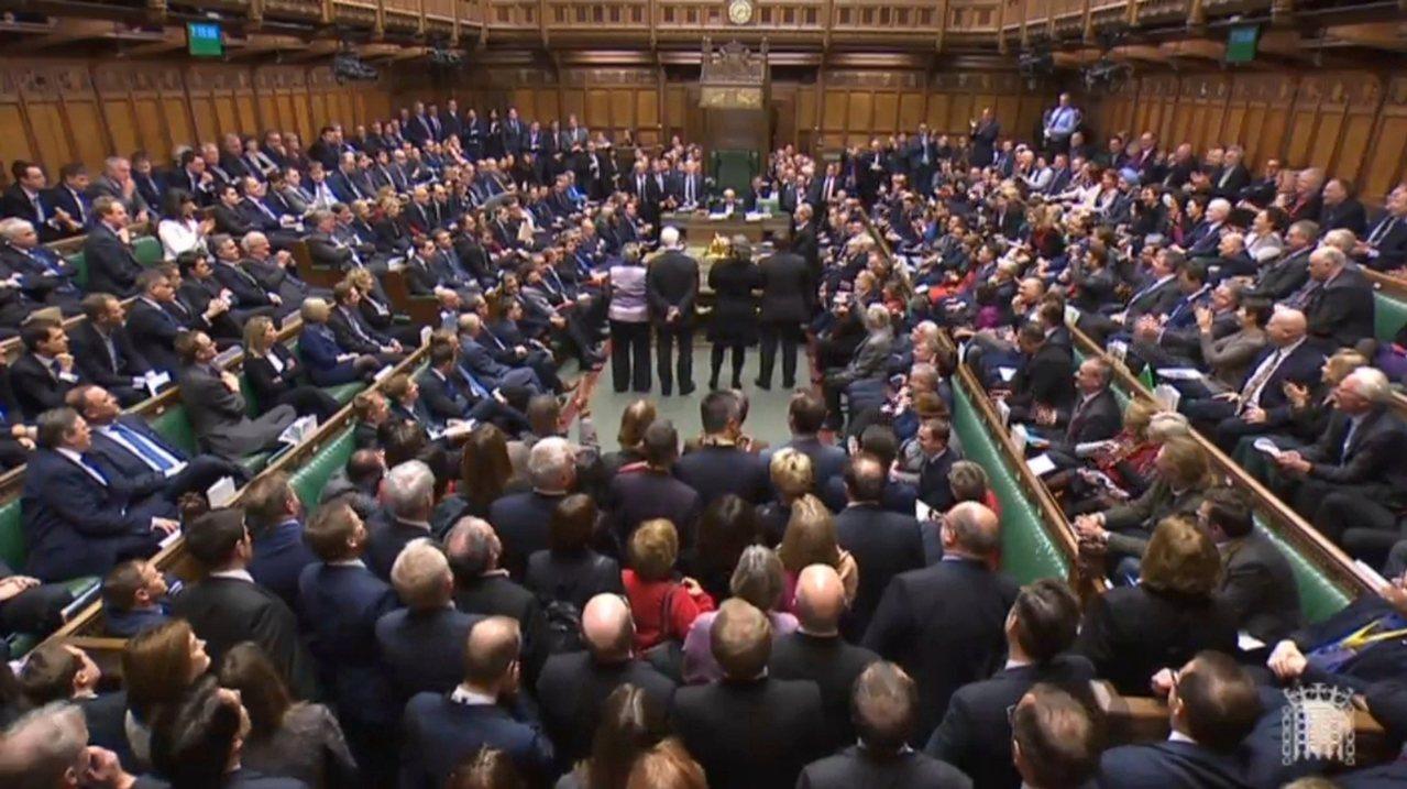 英國下議院通過修正案,賦予國會對脫歐協議的最終決定權。美聯社