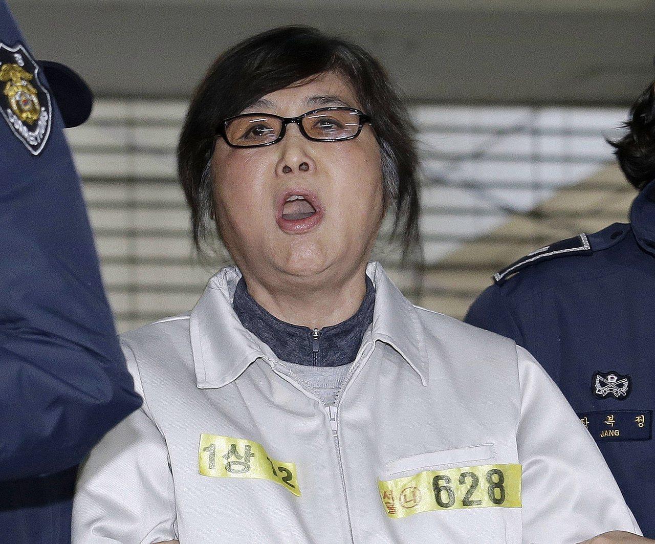 南韓前總統朴槿惠的親信崔順實。美聯社