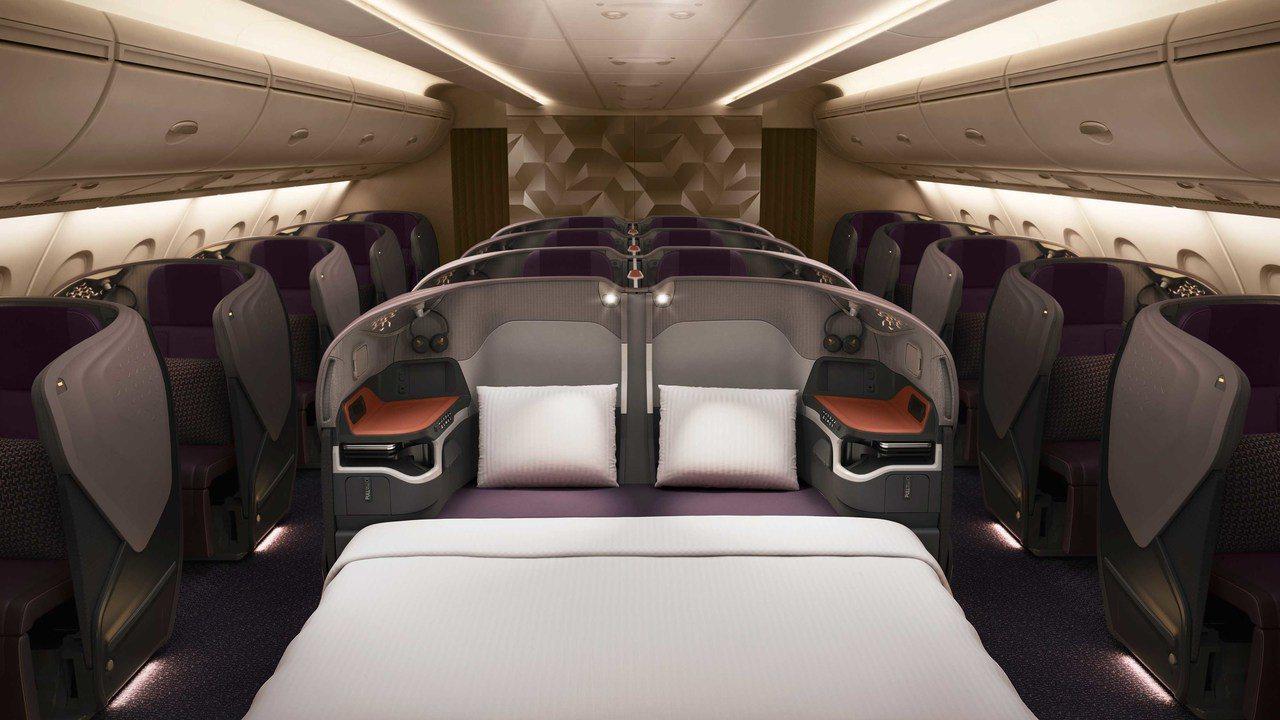 配備全新客艙產品的首架新航A380抵達新加坡。 圖/新加坡航空提供