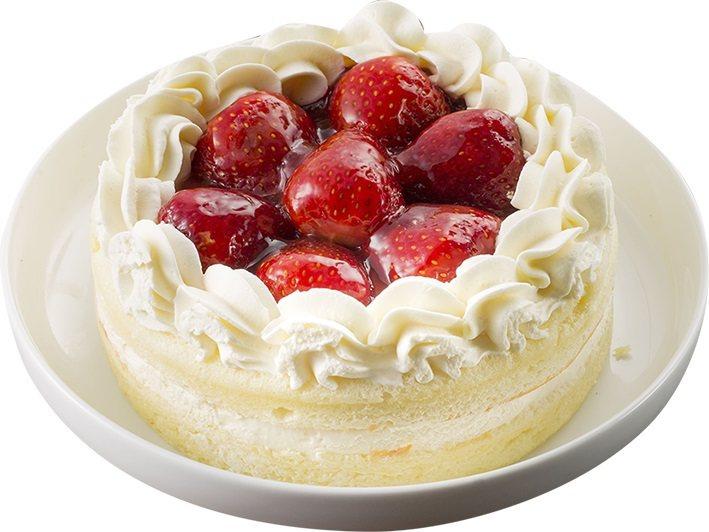 草莓卡士達蛋糕,售價129元。圖/全聯提供
