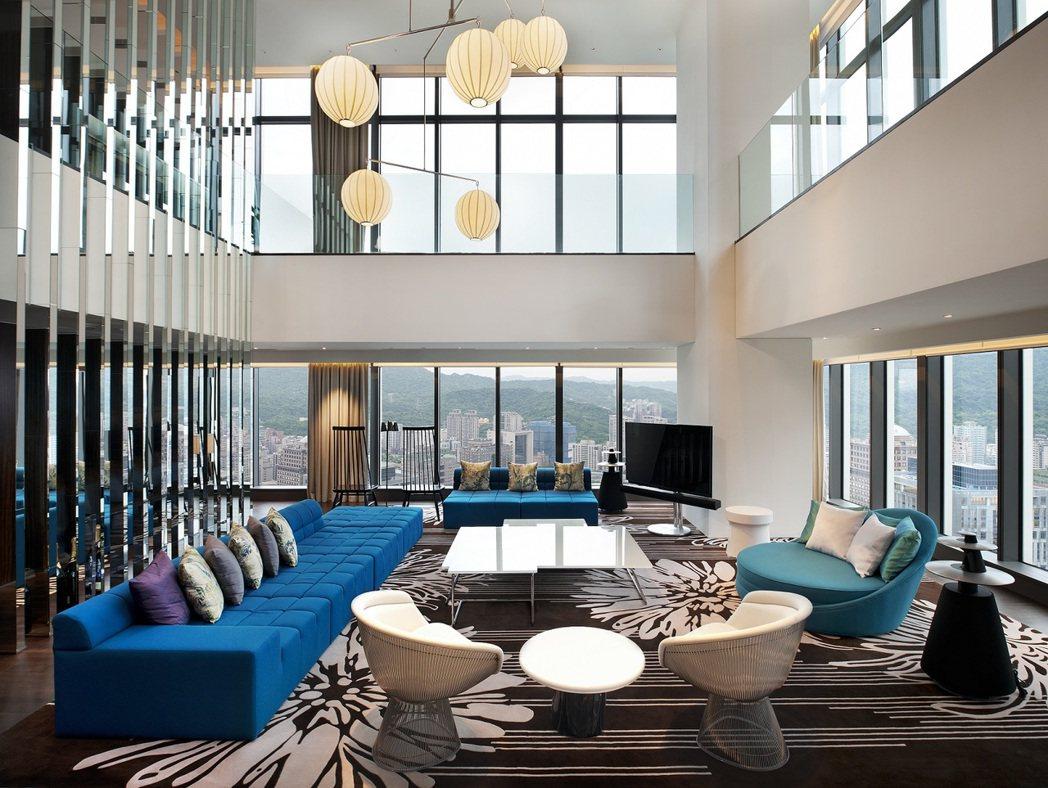 W HOTEL頂級驚喜套房(總統套房),跨年方案2晚要價89萬。圖/W HOTE...