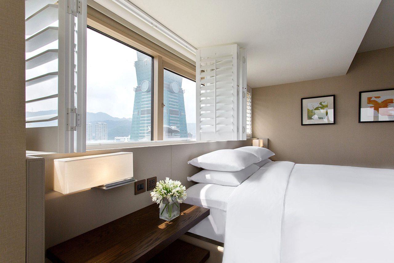 君悅酒店景觀房可近距離欣賞台北101。圖/君悅酒店提供