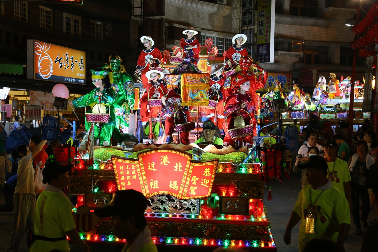 北港藝閣遊行是台灣最具特色的百年藝陣之一。圖/報系資料照