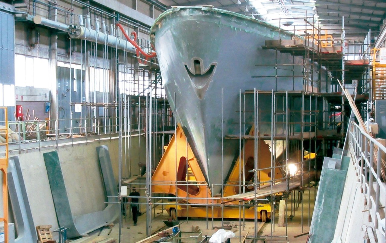 國防部與慶富解約,獵雷艦建造案也前途未卜。 圖/慶富提供