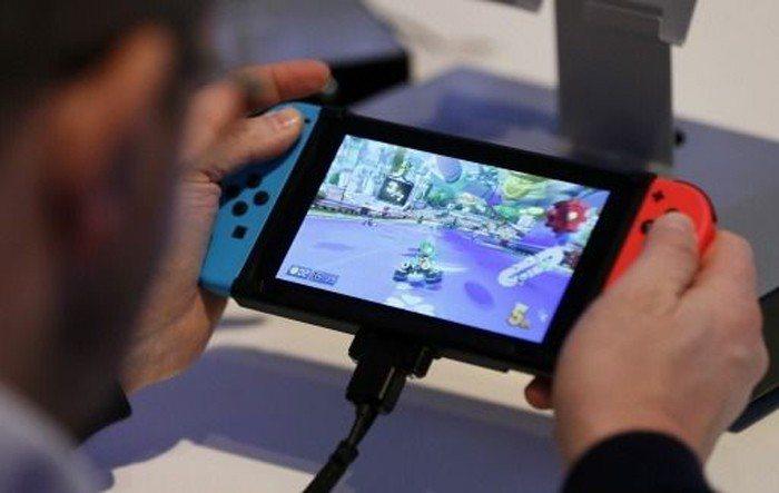 任天堂的Switch遊戲主機。 歐新社(資料照片)