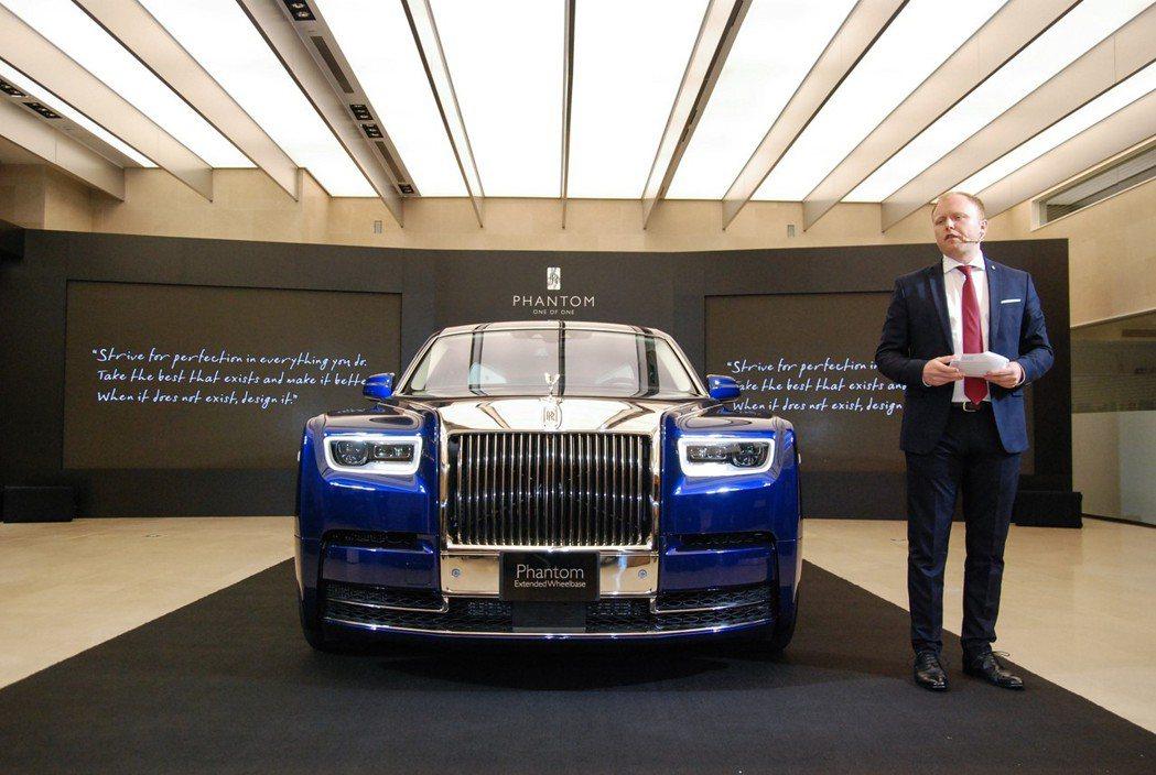 勞斯萊斯台灣總代理盛惟公司也於今(15)日正式將在台發表第八代 Rolls-Royce Phantom 豪華旗艦。 記者林鼎智/攝影