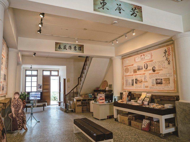 日本統治時代に発記茶行としてにぎわった建物は、修復されURS27W城市影像実験室...