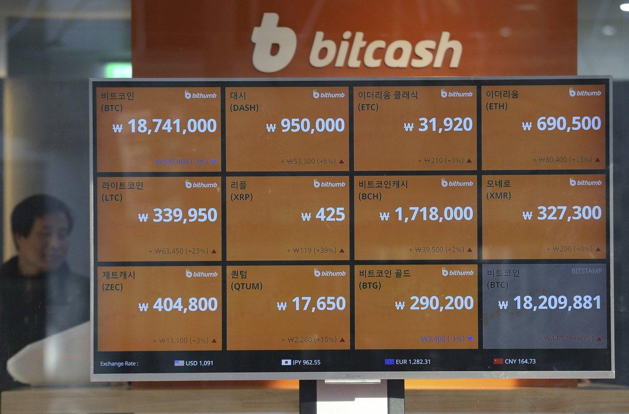 南韓區塊鏈產業協會宣布多項措施,要讓數位貨幣交易透明化。(美聯社)