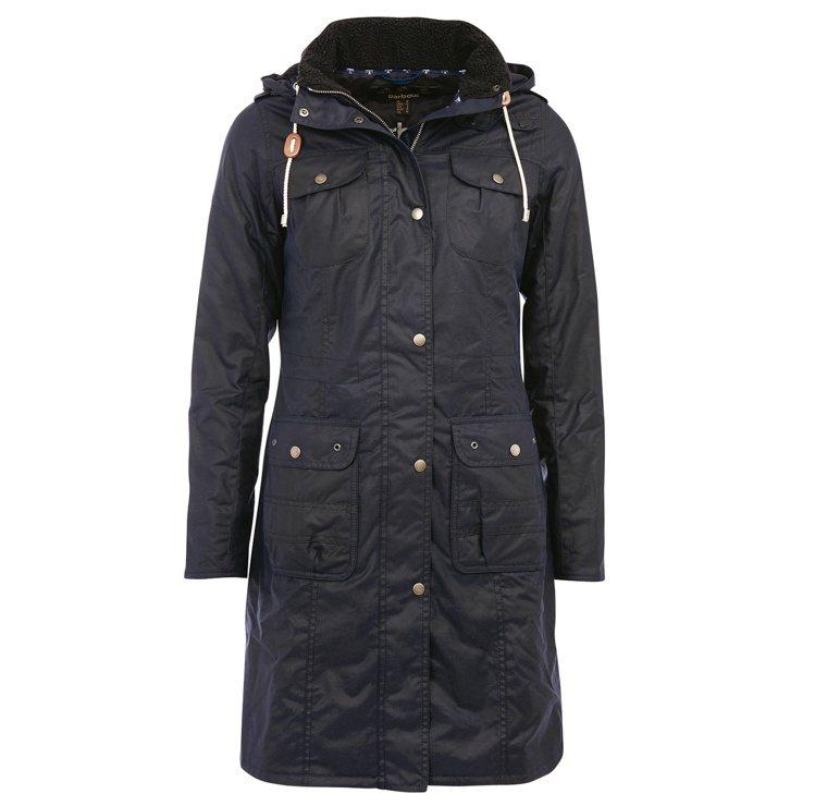 梅根馬克爾風格款式Barbour溫特頓油布風衣,售價22,100元。圖/Barb...