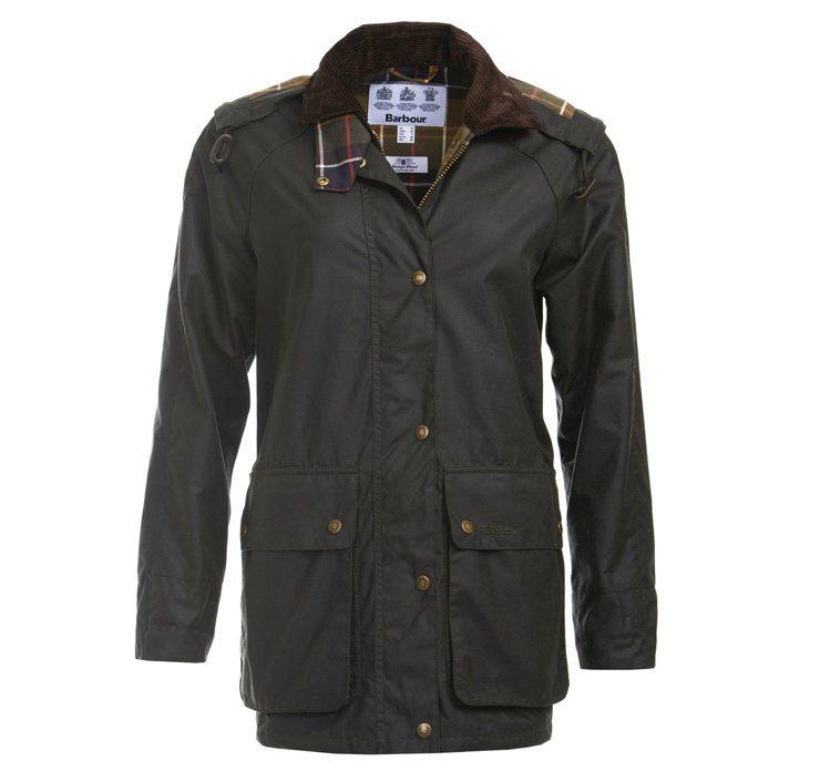 黛妃風格款式Barbour Gamefair油布夾克,售價20,000元。圖/B...