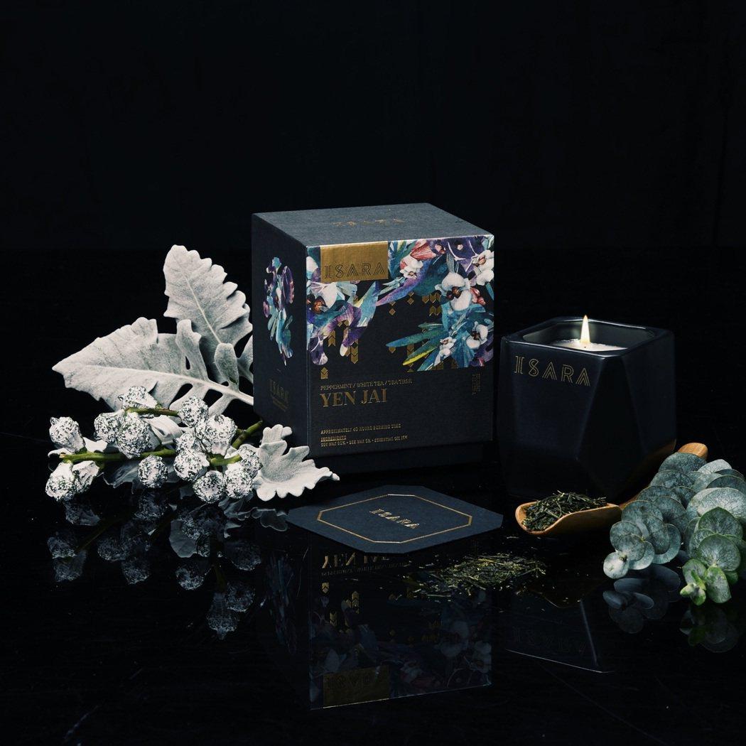 ISARA YEN JAI薄荷凝茶香氛蠟燭, 225g售價1,580元。圖/IS...