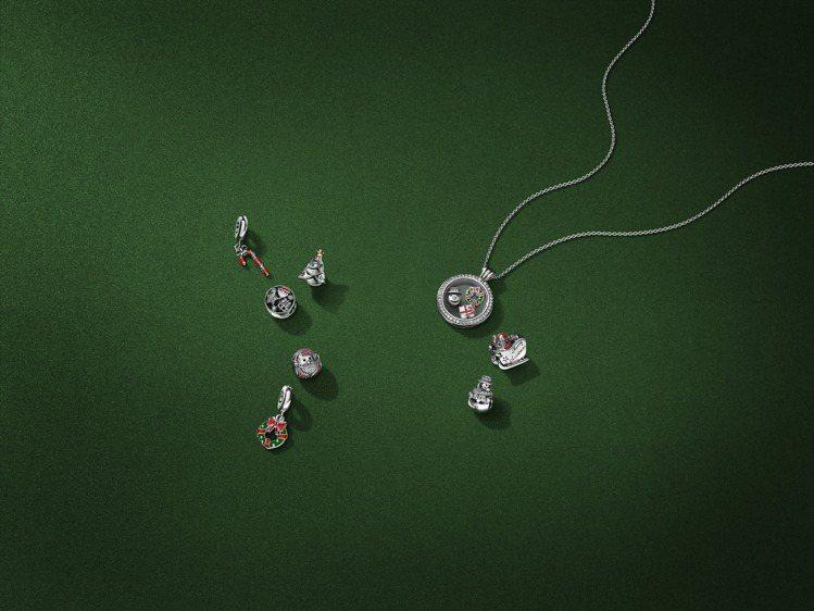 PANDORA耶誕系列造型充滿節慶氛圍。圖/PANDORA提供