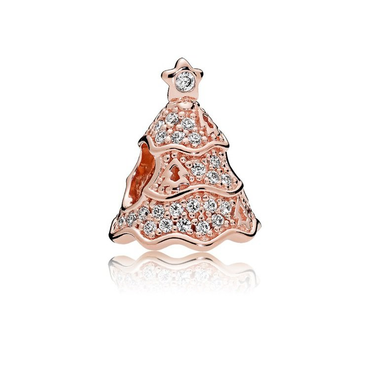 PANDORA Rose耶誕樹鋯石串飾,3,380元。圖/PANDORA提供