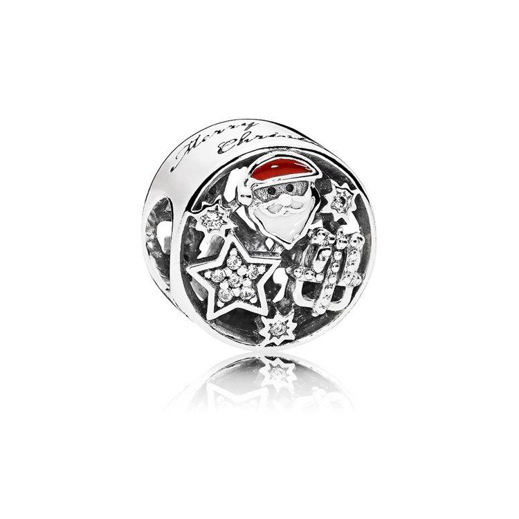 耶誕喜樂925銀鋯石琺瑯串飾,2,580元。圖/PANDORA提供