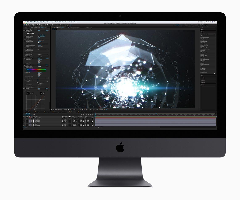與先前推出的iMac外型幾無差異的iMac Pro,內藏工作站等級的強大效能。圖...