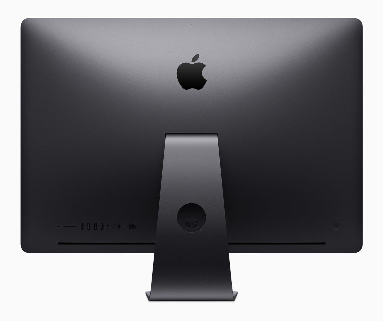 iMac Pro一體成型纖薄的機身。圖/蘋果提供