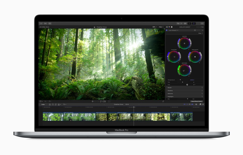 Final Cut Pro X獨特的色輪調控介面,操作更順手。圖/蘋果提供
