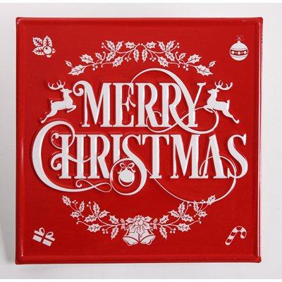 耶誕快樂鐵板掛飾。圖/生活工場提供