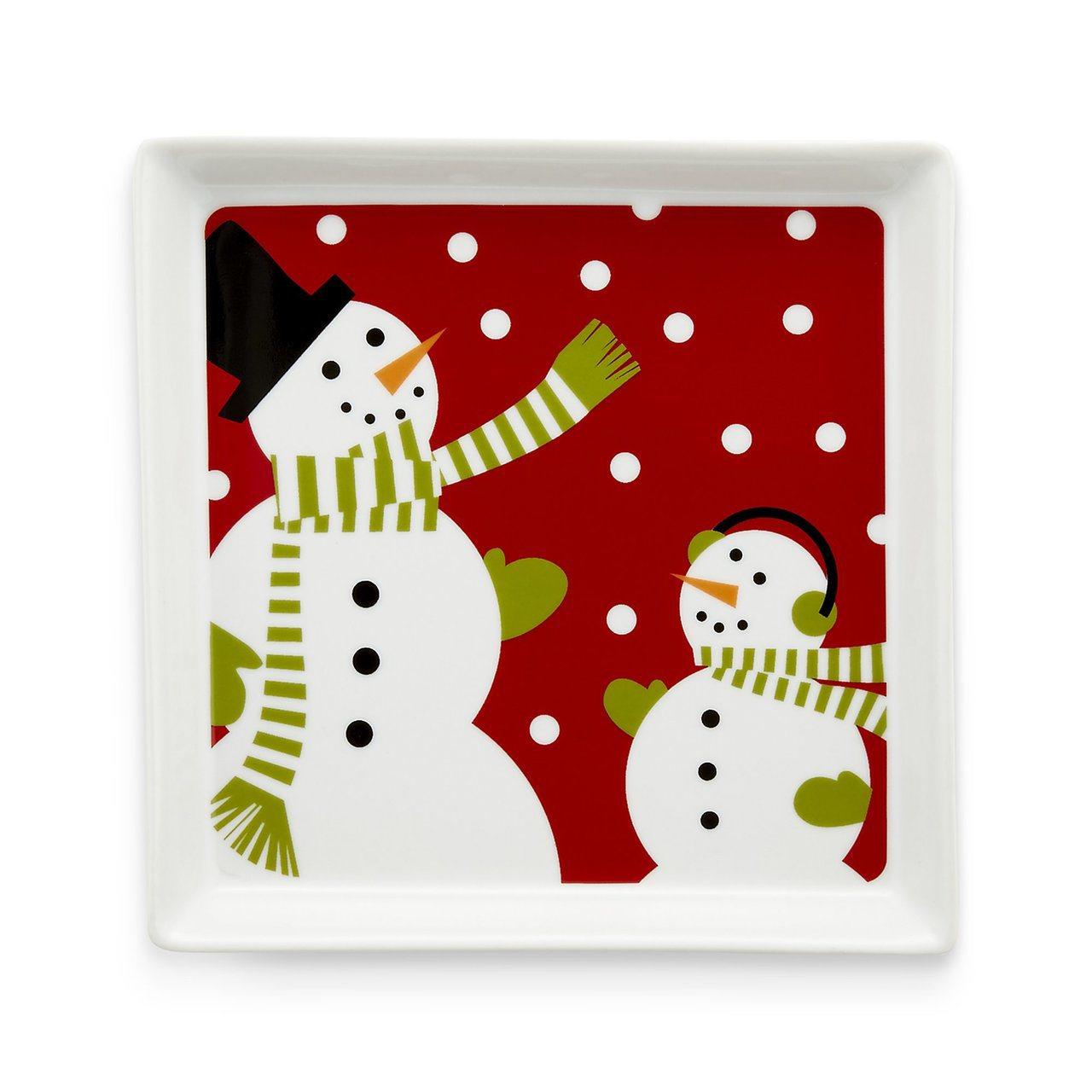 Snowman餐盤展現過節歡樂氣氛。圖/Crate and Barrel提供