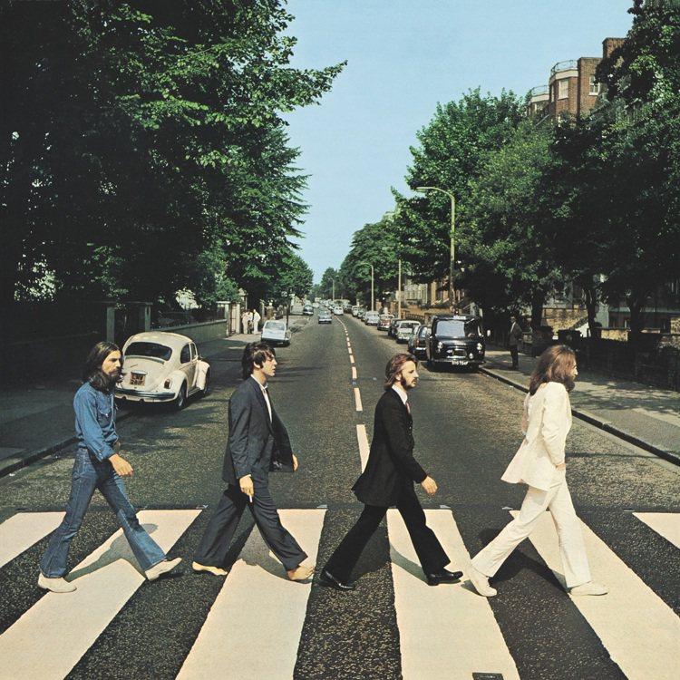 披頭四於1969年發行《艾比路》專輯。圖/萬寶龍提供