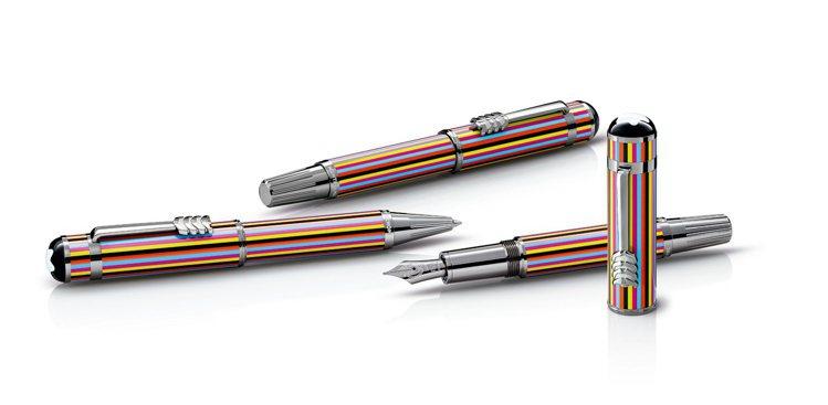 (左起)萬寶龍名人系列披頭四樂團特別款原子筆,24,900元;鋼珠筆,27,80...