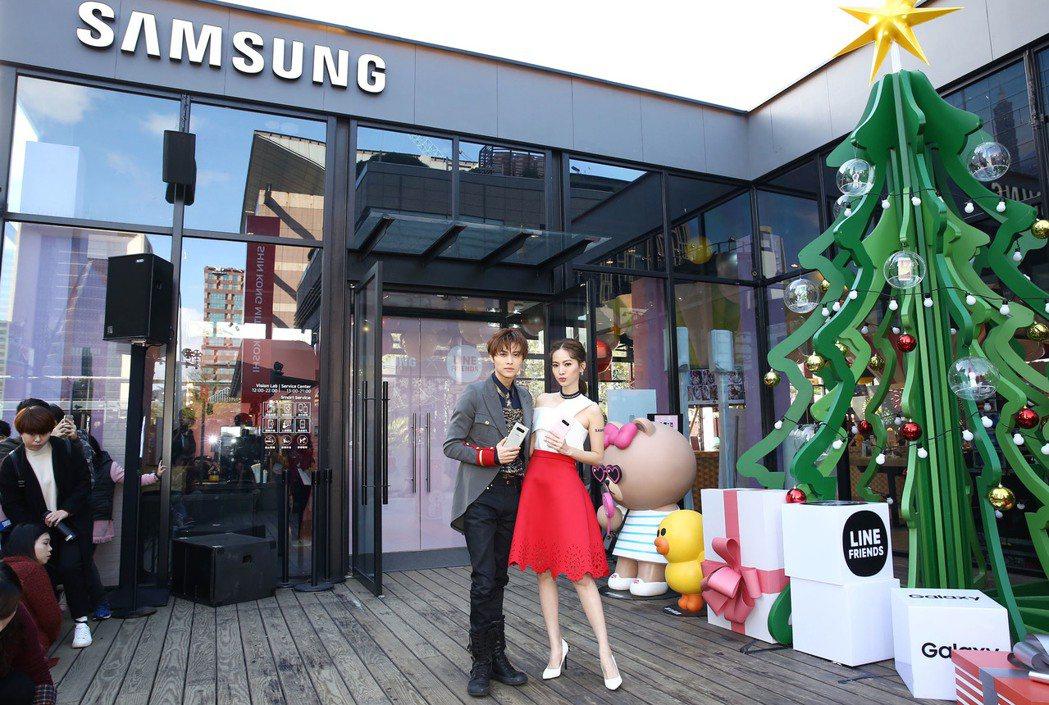 王子邱勝翊、曾之喬一同出席Samsung X LINE FRIENDS耶誕派對。...