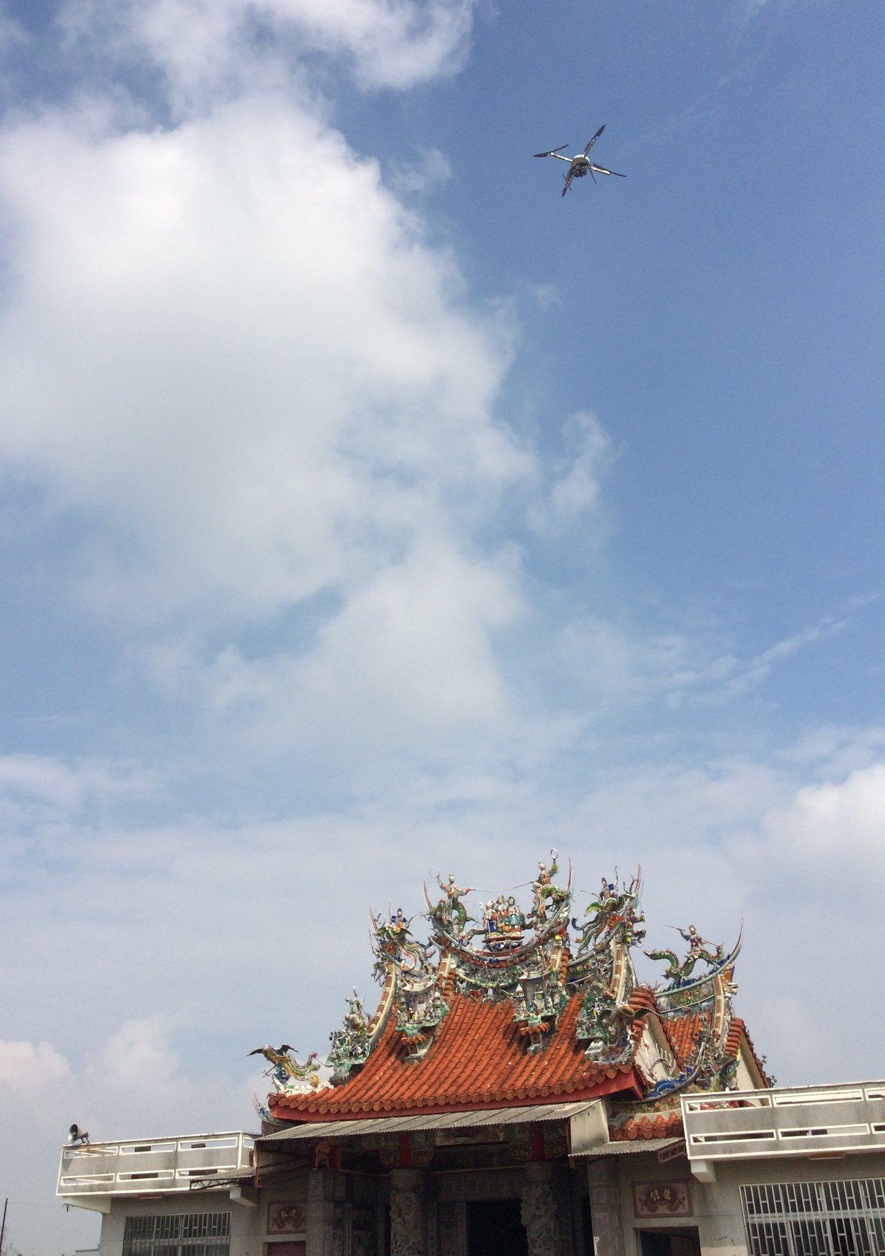 台南市地政局購置高精度製圖用無人飛機,使用在地籍測量上。圖/地政局提供