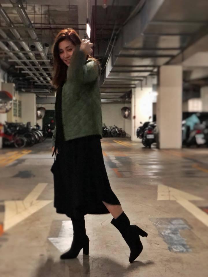 王宇婕搭電梯遇到靈異事件。  圖/摘自臉書