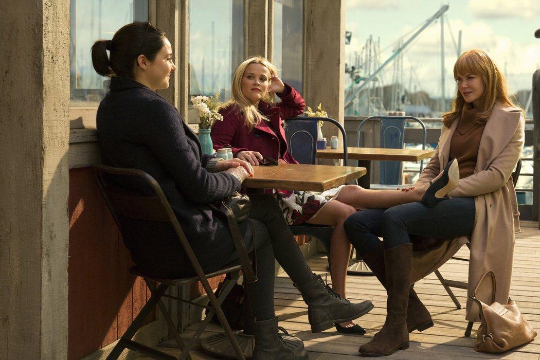 妮可基嫚(右)、瑞絲薇斯朋以及雪琳伍德莉在「美麗心計」裡同步飆戲。圖/弘宇提供