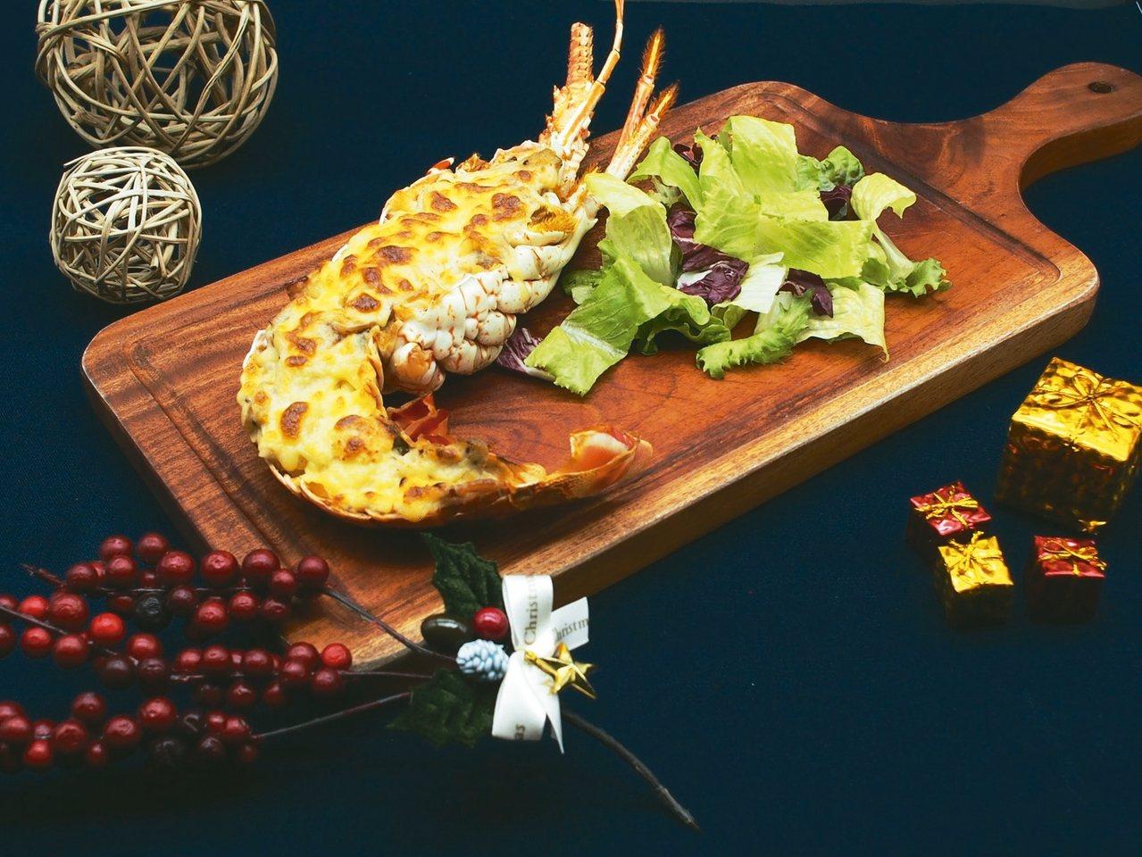 焗烤半尾澳洲龍蝦。 業者/提供