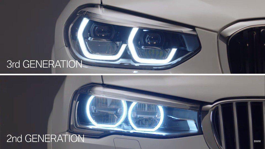 G01的六角形頭燈設計,使其看來更有性格。 摘自BMW影片