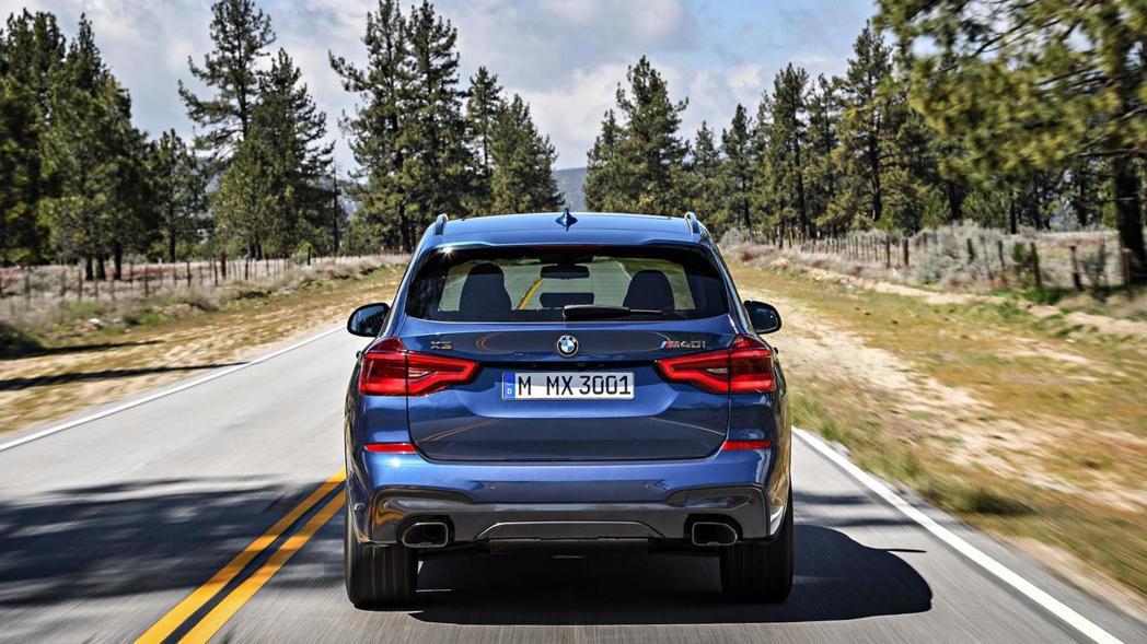 BMW X3 M40i。 摘自BMW