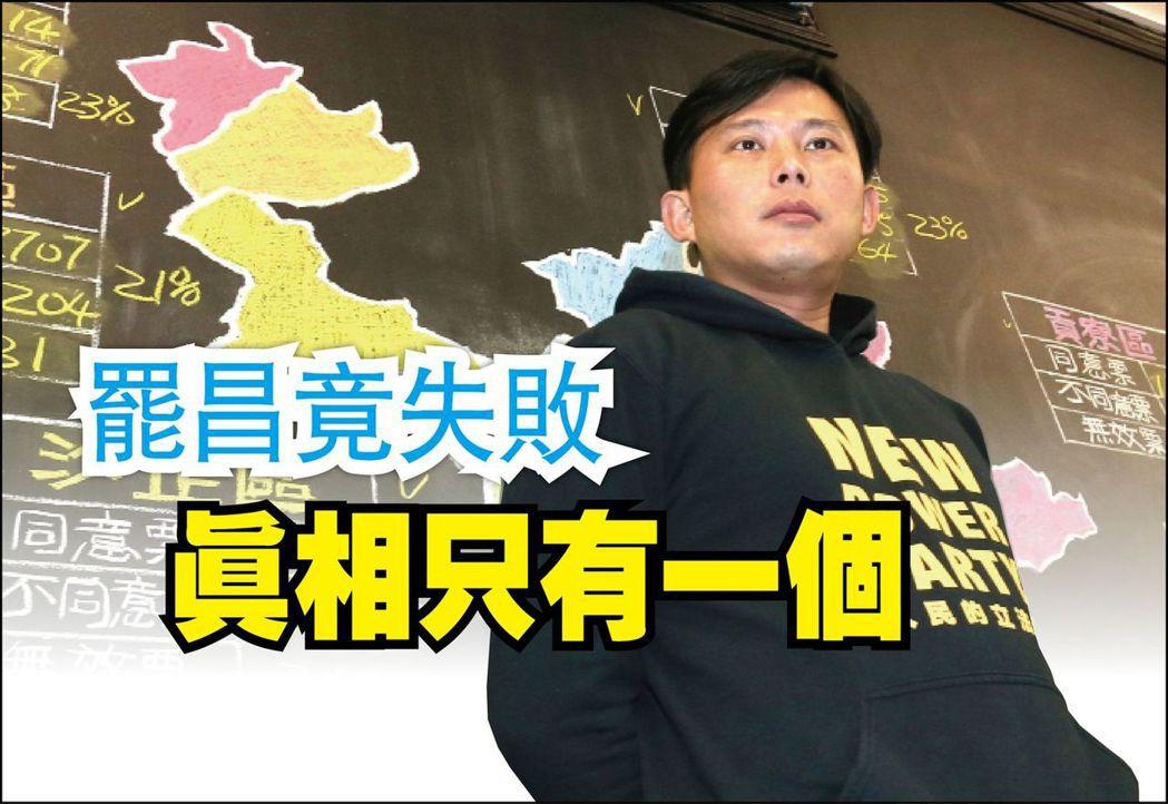 罷免投票未過,立委黃國昌在汐止服務處發表演說,並兩度鞠躬致意。記者許正宏/攝影