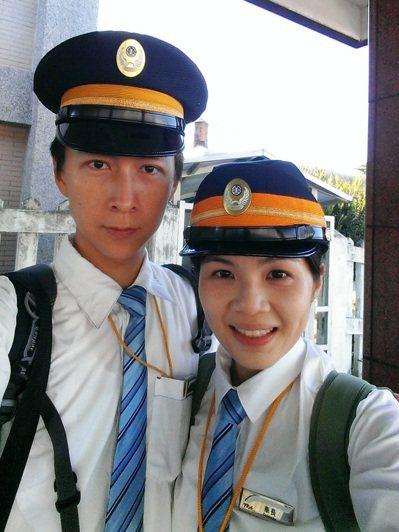 黃振洲(左)與吳芝瑋談了4年遠距戀愛,長期忍受1個月以上見不到面的相思苦。圖/台...