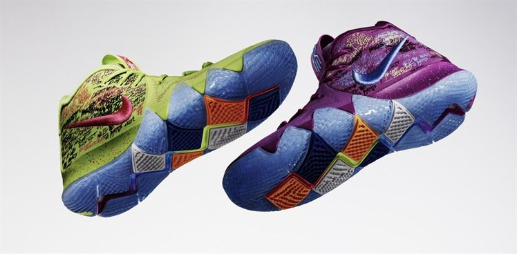 KYRIE 4 Confetti球鞋。圖/NIKE提供