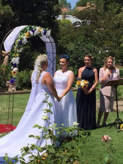 澳洲首場同性婚禮16日舉行。圖擷自澳洲婚姻平權遊說組織